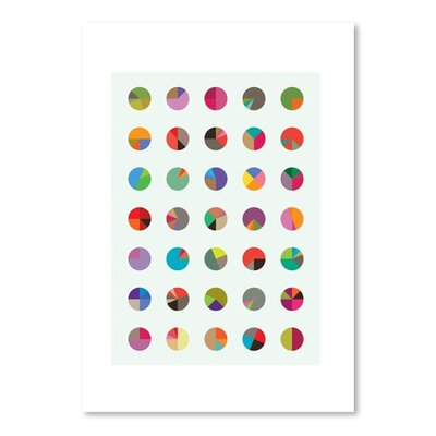 Americanflat Pie Charts Graphic Art Wrapped on Canvas