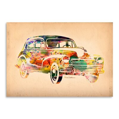 Americanflat Folsfagen Car 2 Art Print Wrapped on Canvas
