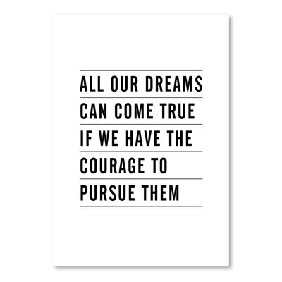 Americanflat All Dreams Can Come True Typography