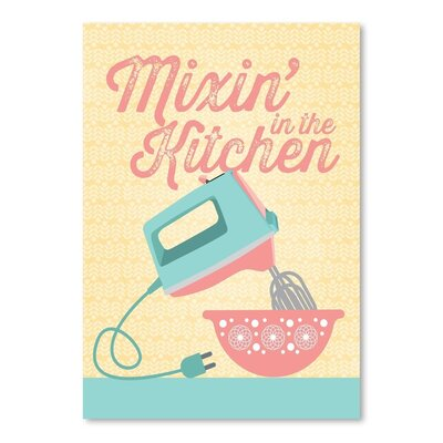 Americanflat Kitchen Bar Mixer 3 Graphic Art Wrapped on Canvas