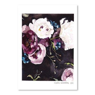 Americanflat Blooms on Black 5 Art Print