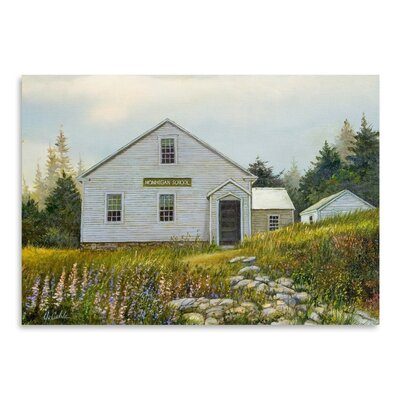 Americanflat Lupines At The School Art Print