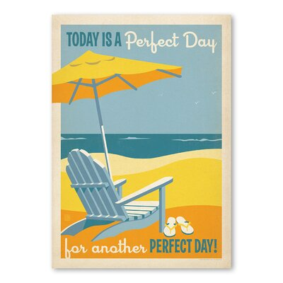 Americanflat Perfect Day Vintage Advertisement Wrapped on Canvas