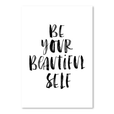 Americanflat Be Your Beautiful Self Typography on Canvas