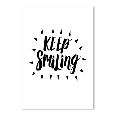 Americanflat Keep Smiling Typography Wrapped on Canvas