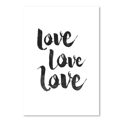 Americanflat Love Love Love Typography on Canvas