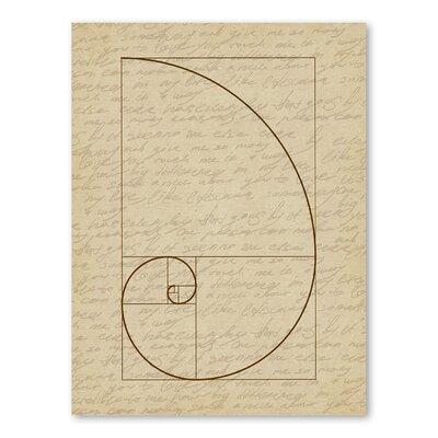 Americanflat Fibonacci 2 Graphic Art Wrapped on Canvas