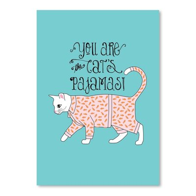 Americanflat Cats Pajamas Graphic Art