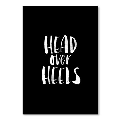 Americanflat Head over Heels Typography in White