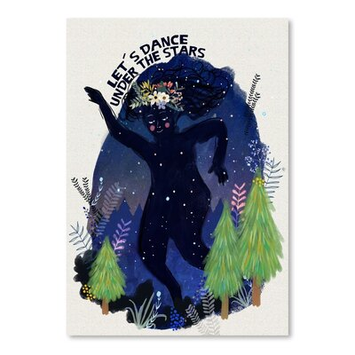 Americanflat Dance Under the Stars 2 Graphic Art Wrapped on Canvas