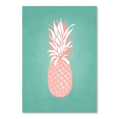 Americanflat PalmSprints Pineapple Graphic Art Wrapped on Canvas