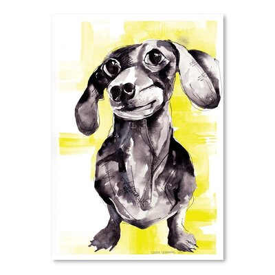 Americanflat Dutch Hound Art Print Wrapped on Canvas