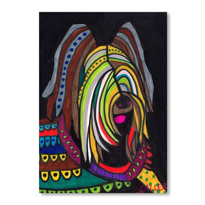 Americanflat Briard Art Print on Canvas