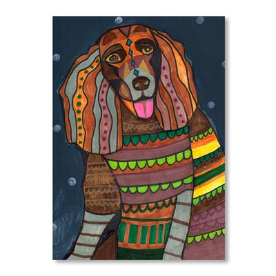 Americanflat Water Spaniel Art Print Wrapped on Canvas