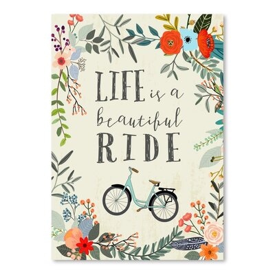 Americanflat Life is a Beautiful Ride Graphic Art Wrapped on Canvas