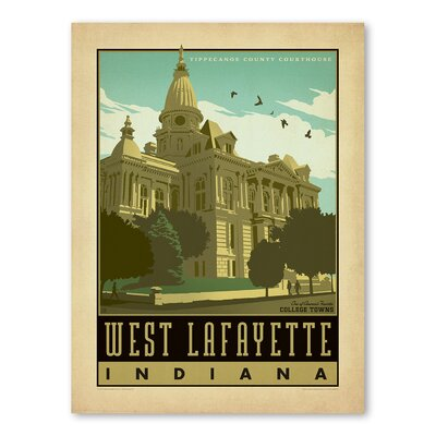 Americanflat Asa Westlafayette Vintage Advertisement Wrapped on Canvas