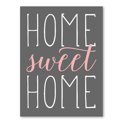 Americanflat Home Sweet Home Typography in Pale Salmon