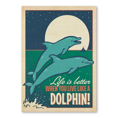 Americanflat Live Like A Dolphin Vintage Advertisement