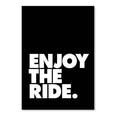 Americanflat Enjoy the Ride Typography Wrapped on Canvas