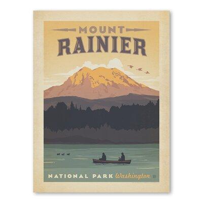 Americanflat Asa National Park Mount Ranier Vintage Advertisement