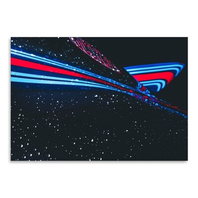 Americanflat Blue Graphic Art Wrapped on Canvas