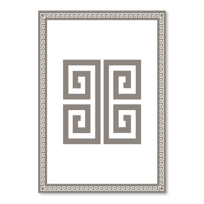 Americanflat Greek Key Classic Graphic Art Wrapped on Canvas