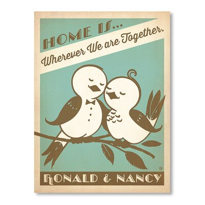 Americanflat Home is Wherever We Are Together Graphic Art on Canvas