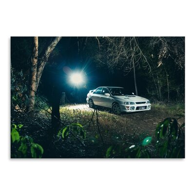 Americanflat Car Photographic Print in White
