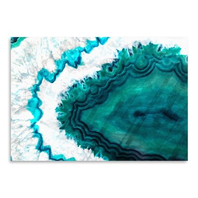 Americanflat Agate Graphic Art Wrapped on Canvas