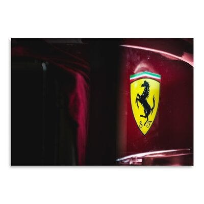 Americanflat Ferrari Racing Days Photographic Print Wrapped on Canvas