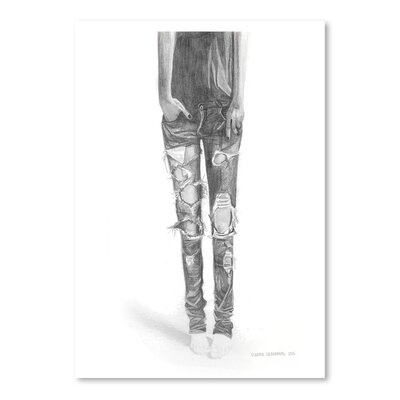 Americanflat Ripped Jeans Art Print Wrapped on Canvas