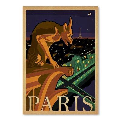 Americanflat WT Paris Gargoile Vintage Advertisement