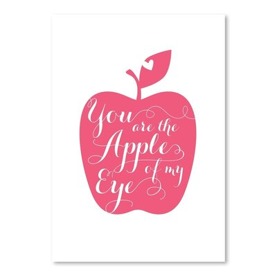 Americanflat Fruit Apple Graphic Art Wrapped on Canvas