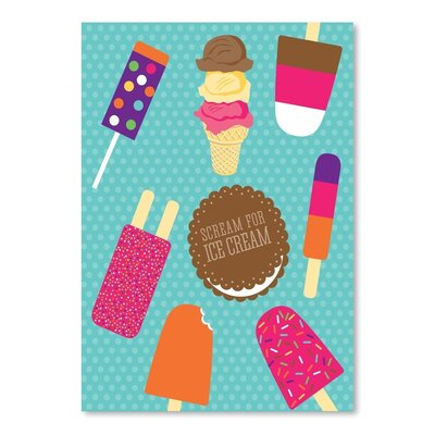 Americanflat Sweets Ice Cream Graphic Art Wrapped on Canvas