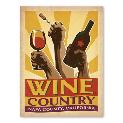 Americanflat Asa Winecountry Vintage Advertisement Wrapped on Canvas
