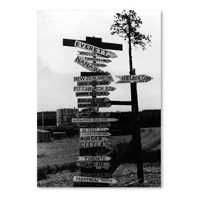 Americanflat Road Sign Photographic Print