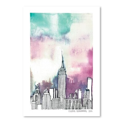 Americanflat Neon Sky Art Print