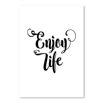 Americanflat Enjoy Life Typography in White