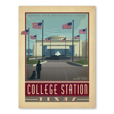 Americanflat Asa College Station Texas Vintage Advertisement