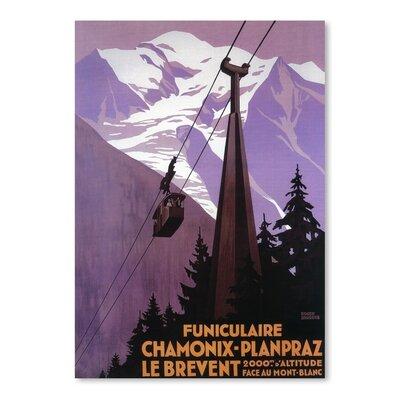 Americanflat Chamonix Plan Praz Vintage Advertisement