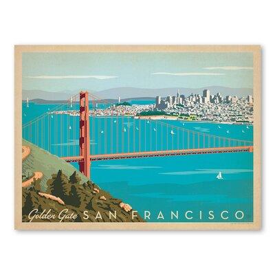 Americanflat Asa San Francisco Goldengate Vintage Advertisement
