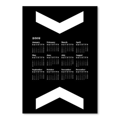 Americanflat Calendar Big Chevr Graphic Art Wrapped on Canvas