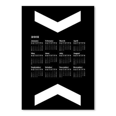 Americanflat Calendar Big Chevron Graphic Art in Black