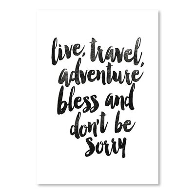 Americanflat Live Travel Adventure Bless Typography Wrapped on Canvas