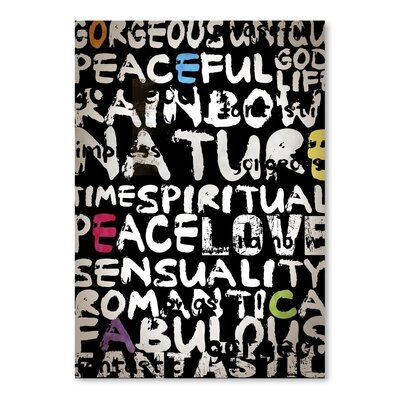 Americanflat World Typography Wrapped on Canvas