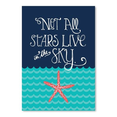Americanflat Nautical Starfish Graphic Art Wrapped on Canvas
