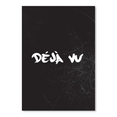 Americanflat Deja Vu Typography Wrapped on Canvas