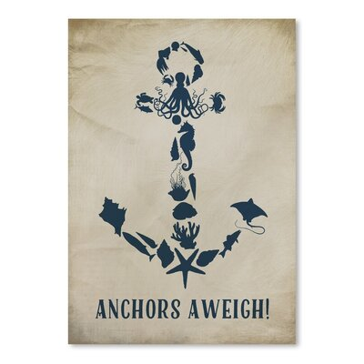 Americanflat Anchors Aweigh Graphic Art on Canvas
