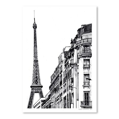 Americanflat Paris Graphic Art Wrapped on Canvas