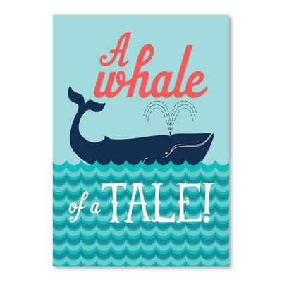 Americanflat Nautical WhaleTale Graphic Art Wrapped on Canvas